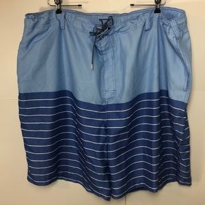 Rochester Swim Trunks sz 4XL lined swim wear blue
